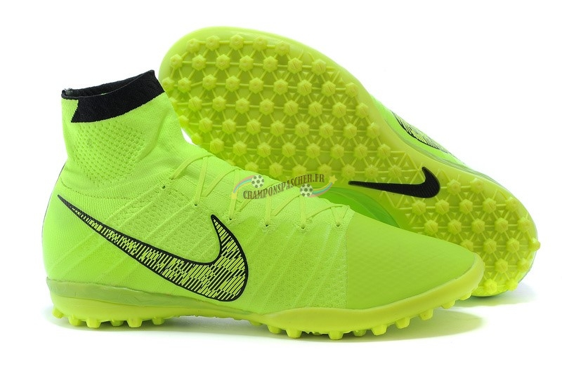 Nike Elastico Superfly TF Vert Fluorescent Nouveau Chaud