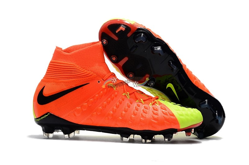 Nike Hypervenom Phantom III DF FG Fluorescent Orange Nouveau Chaud
