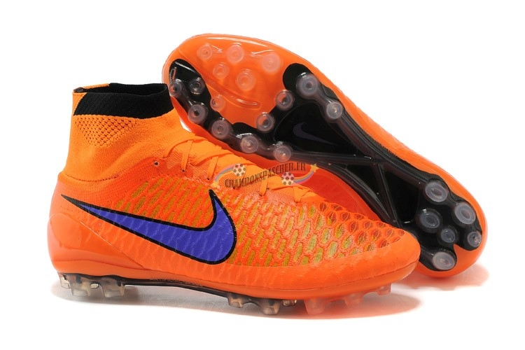 Nike Magista Obra AG Orange Bleu Nouveau Chaud