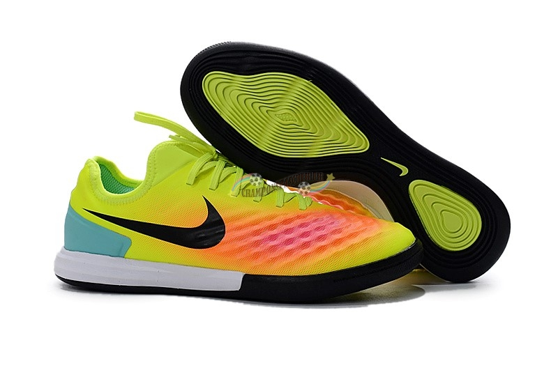 Nike MagistaX IC Jaune Orange Nouveau Chaud