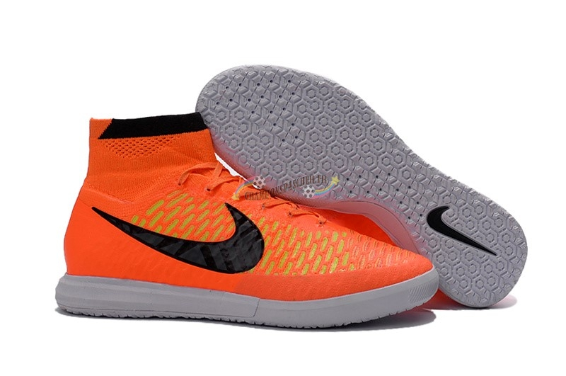 Nike MagistaX IC Orange Noir Nouveau Chaud