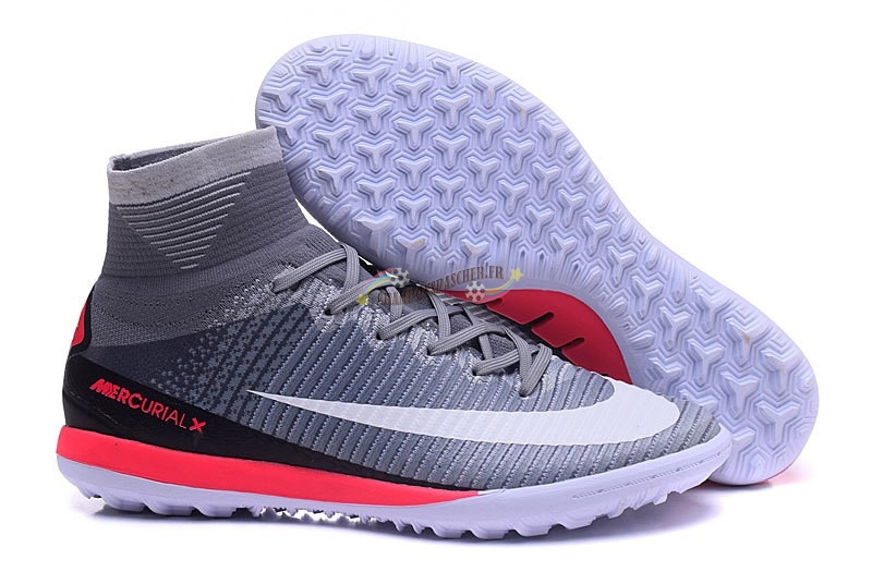 Nike MagistaX Proximo II TF Gris Blanc Rouge Nouveau Chaud