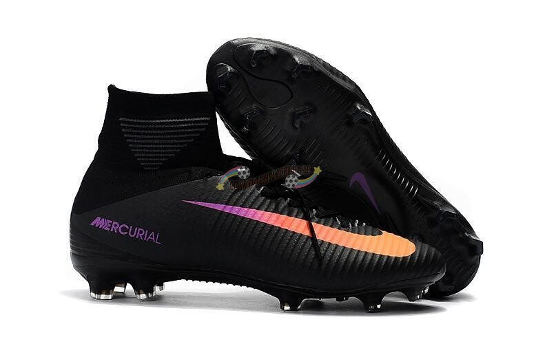 Nike Mercurial Superfly V FG Noir Orange Nouveau Chaud