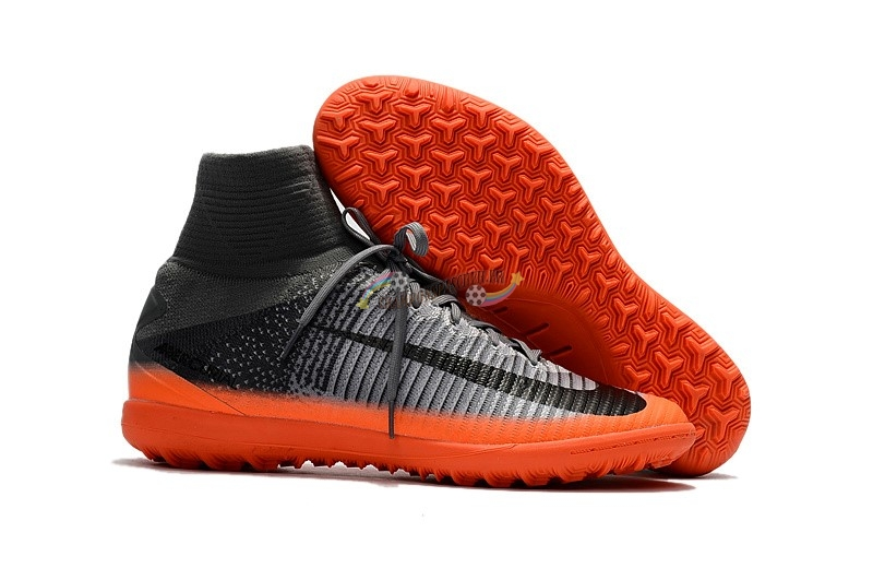 Nike Mercurial Superfly V TF Noir Orange Nouveau Chaud