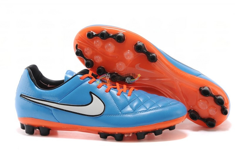Nike Tiempo Legend V AG Orange Bleu Blanc Orange Nouveau Chaud