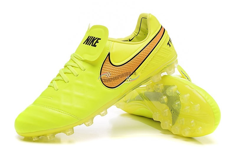 Nike Tiempo Legend VI AG Vert Fluorescent Orange Nouveau Chaud
