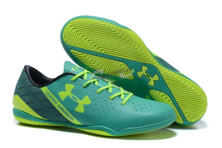 Under Armour Clutchfit Force IC Noir Vert Vert Fluorescent Nouveau Chaud
