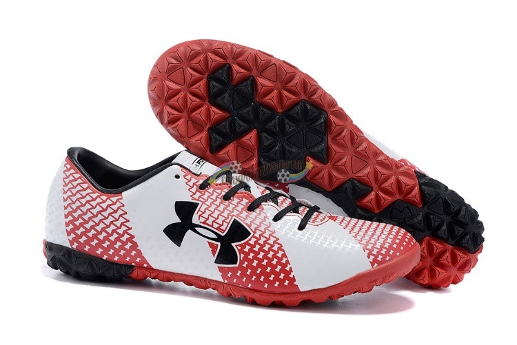 Under Armour Clutchfit Force TF Noir Rouge Blanc Nouveau Chaud