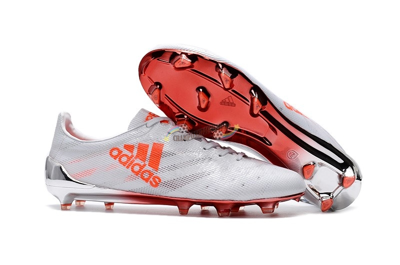 Adidas Adizero 99Gram Limited Edition FG Blanc Orange Nouveau Chaud