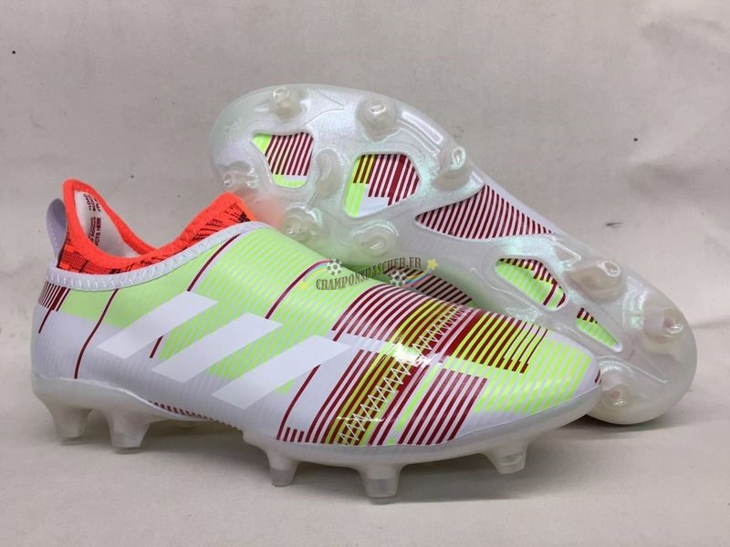 Adidas Glitch Skin 17 FG Jaune Orange Nouveau Chaud
