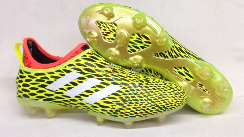 Adidas Glitch Skin 17 FG Orange Jaune Nouveau Chaud