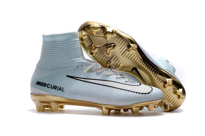 Nike Mercurial Superfly CR7 FG Blanc Or Nouveau Chaud