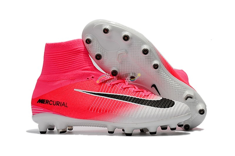 Nike Mercurial Superfly V AG Blanc Rose Nouveau Chaud