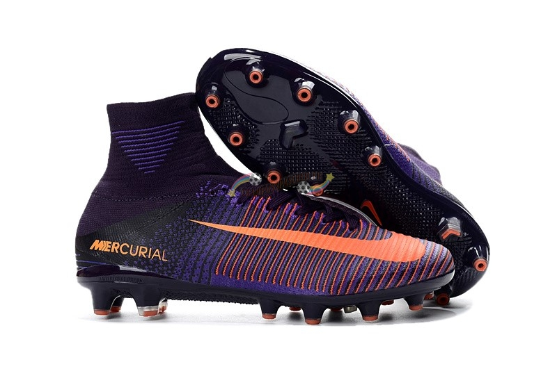 Nike Mercurial Superfly V AG Orange Pourpre Nouveau Chaud