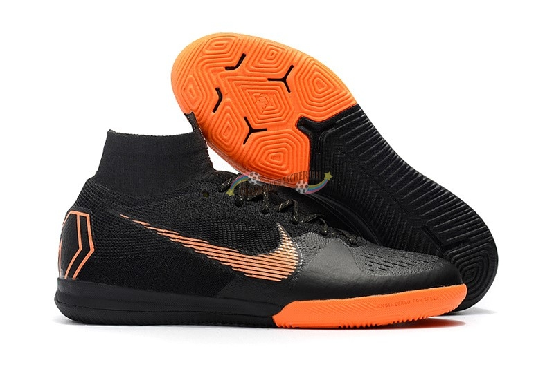 Nike SuperflyX 6 Elite IC Noir Orange Nouveau Chaud
