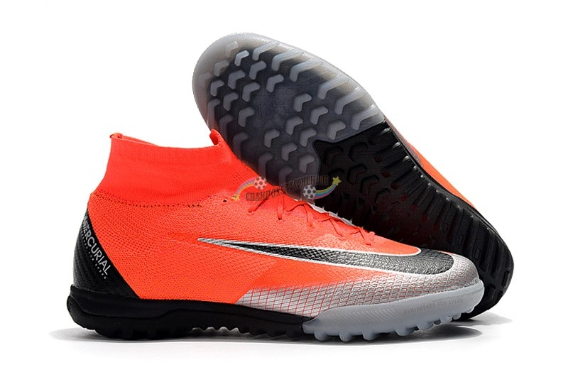 Nike Mercurial Superfly VI Elite CR7 TF Orange Nouveau Chaud