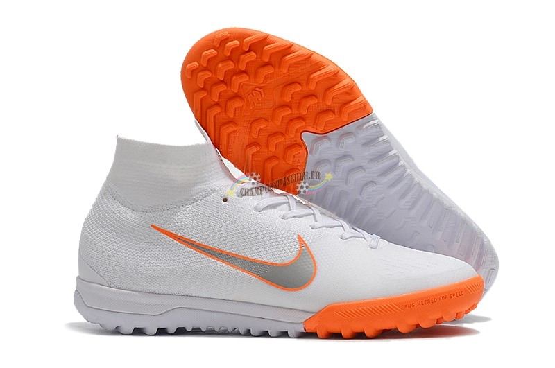 Nike SuperflyX 6 Elite TF Blanc Orange Nouveau Chaud