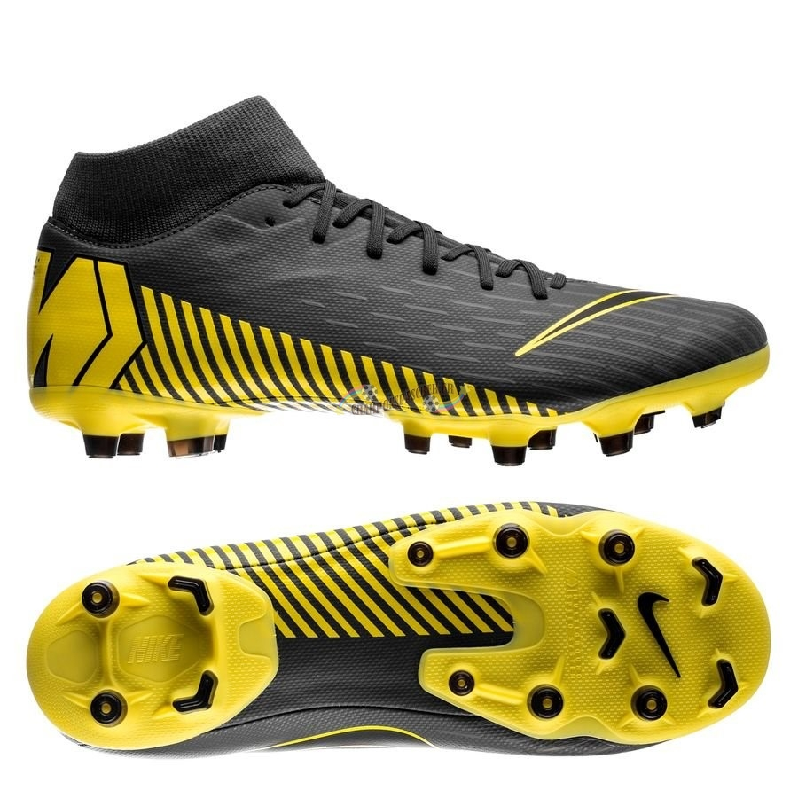 Nike Mercurial Superfly 6 Academy MG Game Over Noir Jaune Nouveau Chaud
