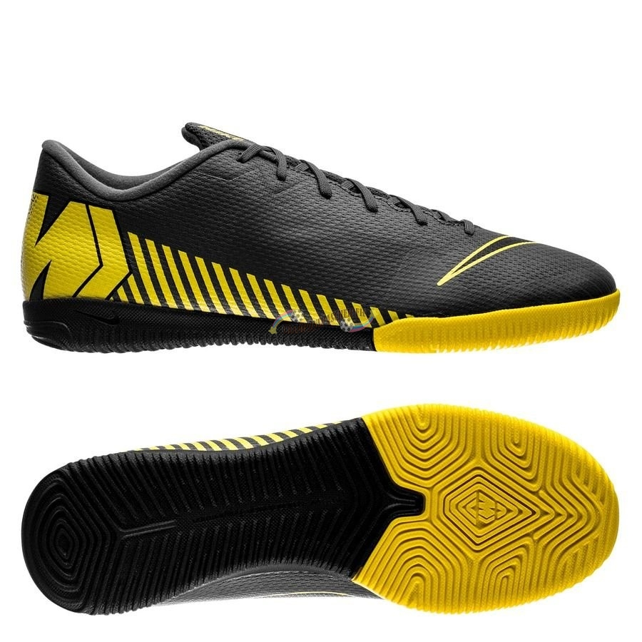 Nike Mercurial Vapor XII Academy IC Game Over Noir Jaune Nouveau Chaud