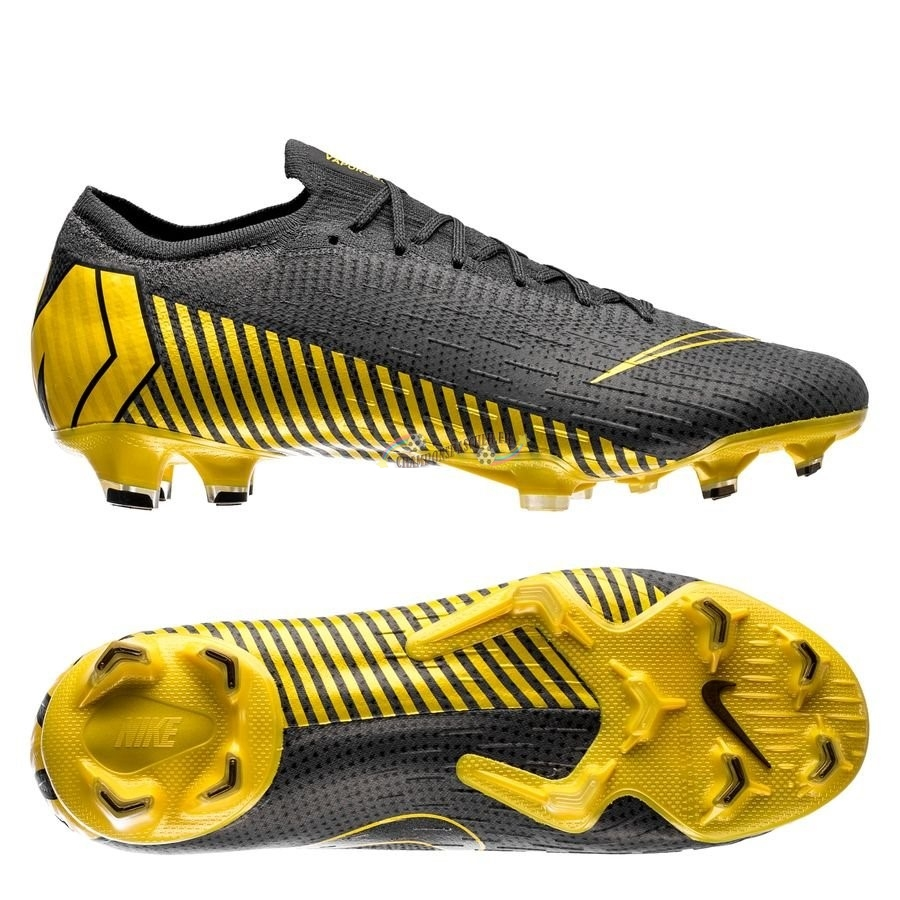 Nike Mercurial Vapor XII Elite FG Game Over Noir Jaune Nouveau Chaud