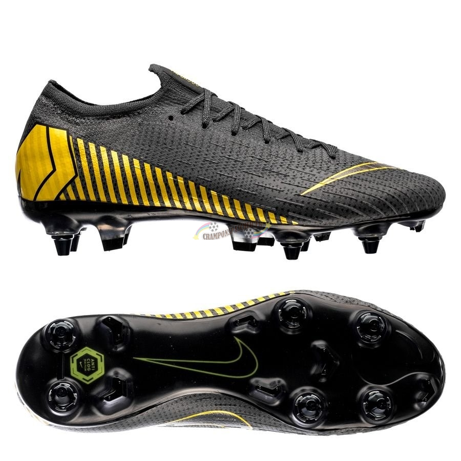 Nike Mercurial Vapor XII Elite SG PRO Anti Clog Game Over Noir Jaune Nouveau Chaud