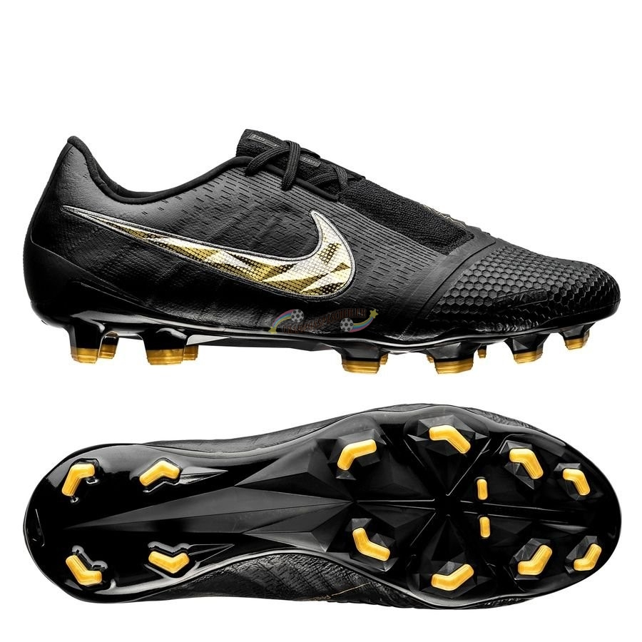 Nike Phantom Venom Elite FG Black Lux Noir Or Nouveau Chaud