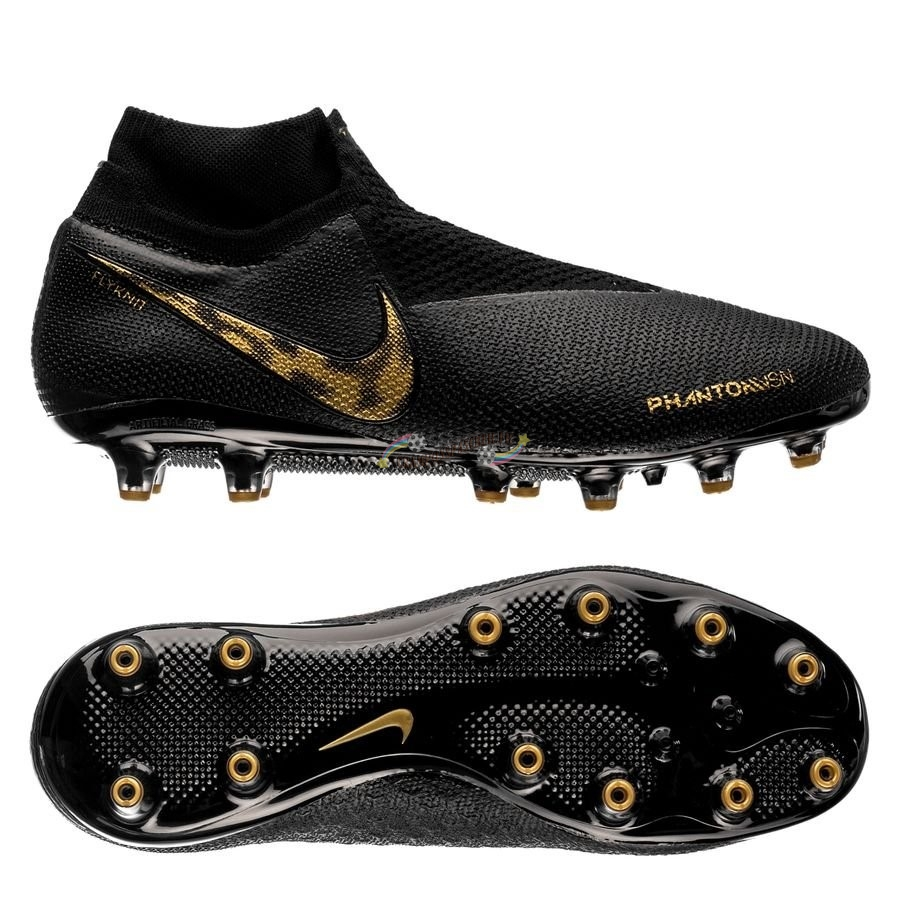 Nike Phantom Vision Elite DF AG PRO Black Lux Noir Or Nouveau Chaud