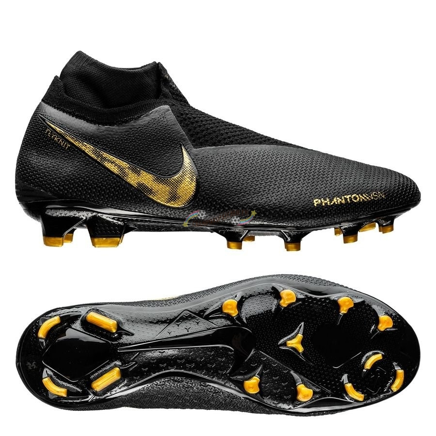 Nike Phantom Vision Elite DF FG Black Lux Noir Or Nouveau Chaud