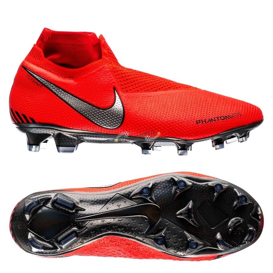 Nike Phantom Vision Elite DF FG Game Over Rouge Nouveau Chaud