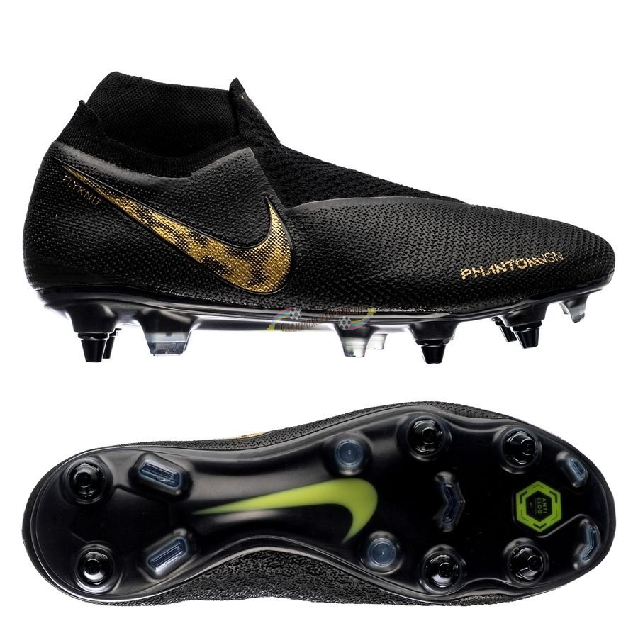 Nike Phantom Vision Elite DF SG PRO Anti Clog Black Lux Noir Nouveau Chaud