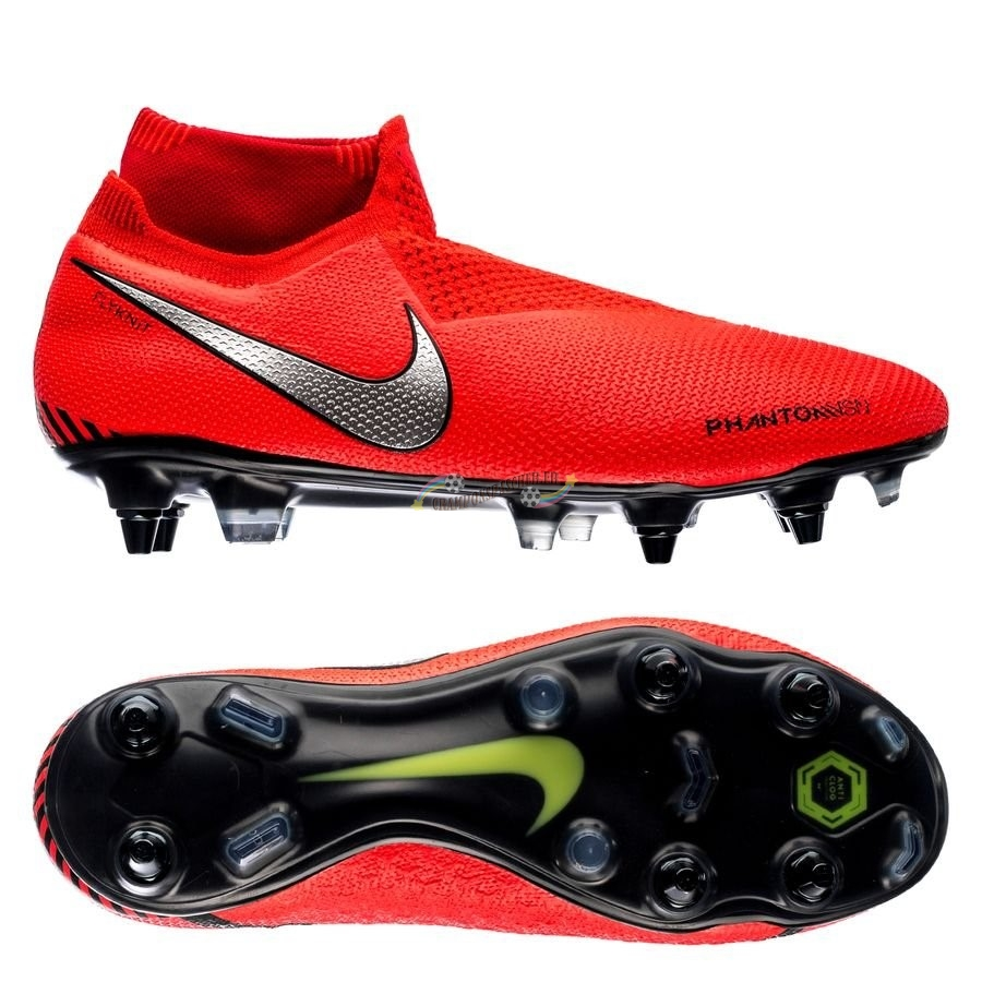 Nike Phantom Vision Elite DF SG PRO Anti Clog Game Over Rouge Nouveau Chaud