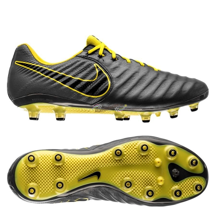 Nike Tiempo Legend VII Elite AG PRO Game Over Gris Jaune Nouveau Chaud