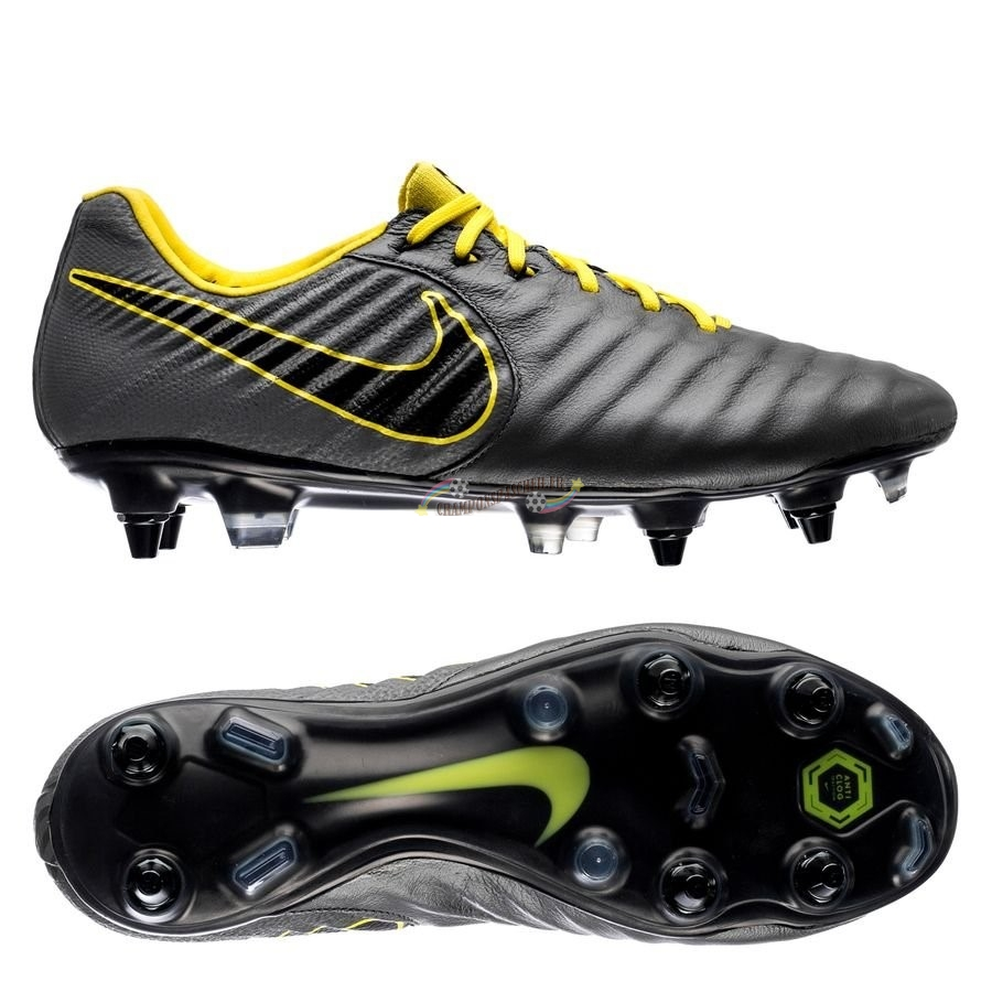 Nike Tiempo Legend VII Elite SG PRO Game Over Noir Jaune Nouveau Chaud