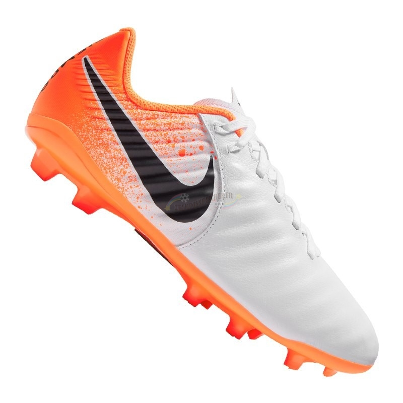 Nike Jr Tiempo Legend VII Academy Enfant FG Orange Nouveau Chaud