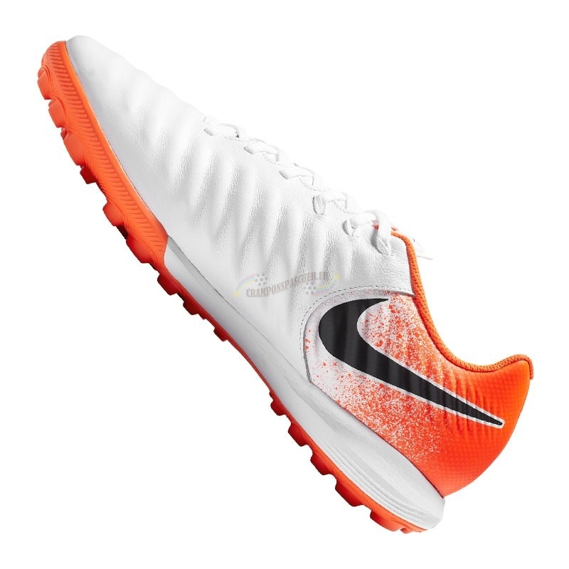 Nike Tiempo LegendX VII Pro TF Orange Blanc Nouveau Chaud