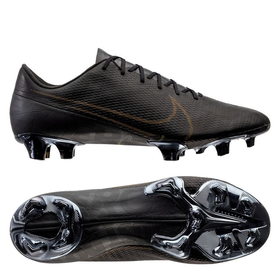 Nike Mercurial Vapor 13 Elite Leather Noir FG Brun Nouveau Chaud