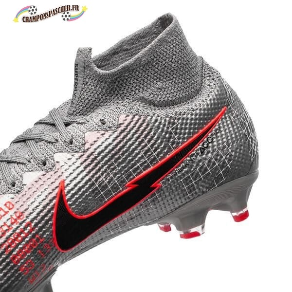 Nike Mercurial Superfly 7 Elite Pro AG Neighbourhood Métallique Gris Noir Nouveau Chaud