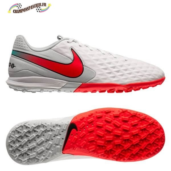 Nike Tiempo Legend 8 Academy Femme TF Flash Crimson Blanc Nouveau Chaud